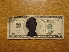 Anti-Lincoln (Joe D!) Tags: money d joe government presidents tender defaced dollars joed refacing antilincoln