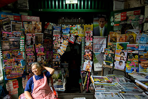 A newsstand at Tha Chang, Bangkok