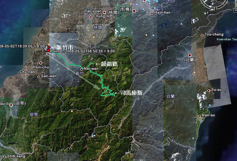20080502_司馬庫斯旅行軌跡