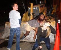 Tonka Toys (SlurpeeGrl) Tags: construction dirty peeing bulldozer