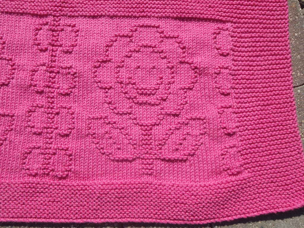 Fo Happy Flower Baby Blanket Knitting Elephant
