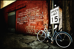 Bike in Alley (crowt59) Tags: art bicycle alley nikon san texas ps greatshot angelo amazingcolors d300 cs3 hotshot getrdun eliteimages crowt59 multimegashot afpov nikonflickraward 1685mmvriizoom bikeinalley