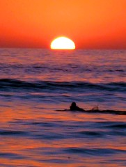 The Last Surfer, California Dreams, San Diego (moonjazz) Tags: ocean california blue light sunset orange sol one mar twilight aqua surf alone peace pacific sandiego glory horizon explorer dream wave best adventure final solo single end tranquil wetsuit splendor naranjo mywinners