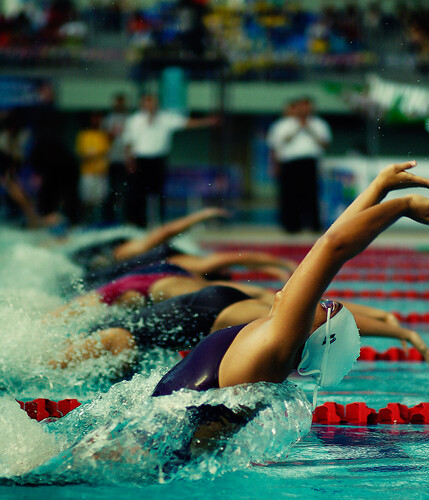 women 100 meters back stroke