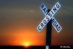 Rail Crossing Road (Satxvike) Tags: sunset texas elpaso railroadcrossing satxvike henrydelgado top20texas