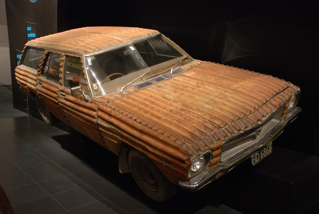 Corrugated Iron Holden Station Wagon