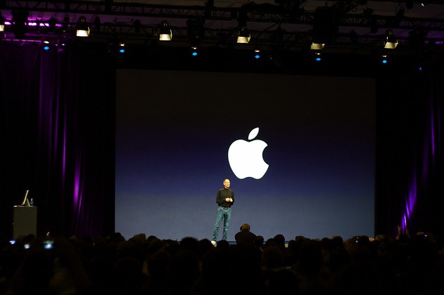 Steve Jobs is on stage