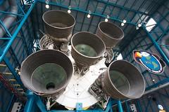 Saturn 5 - F1 Rocket Engines (Kydroon) Tags: moon ship power space engine f1 rocket kennedyspacecenter orbit starurn
