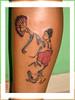 tatuagem gueixa tribal na perna TARZIA TATTOO -
