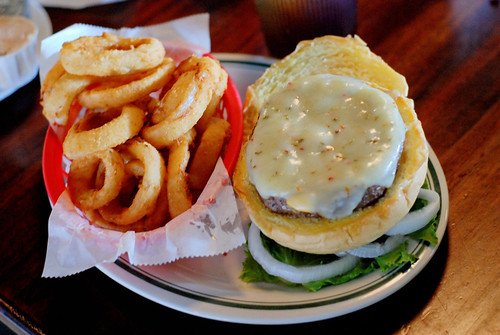 Litton's burger, sans tomato