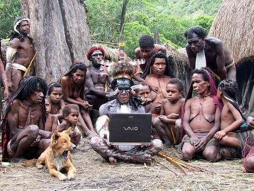 Thumb La tribu Dani de Nueva Guinea prefiere Sony VAIO