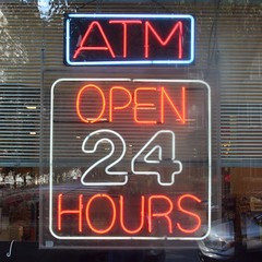 ATM - OPEN 24 HOURS (by Leo Reynolds)