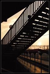 Renfe Setting Sun (putonash) Tags: sunset stairs trenes railway trains escaleras railes renfe