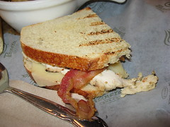 Panera Bread: Chicken bacon dijon panini