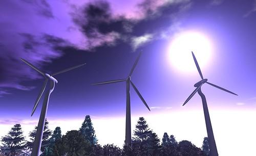purple moon + wind power