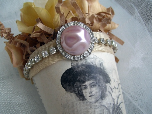 Romantic Rhinestone Victorian Lady