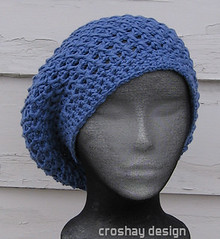 Croshay Design: x stitch beret