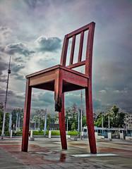Chair 1 (aistora) Tags: mobile phonecam camphone square switzerland geneva cellphone unitednations dri hdr placedesnations palaisdesnations maistora singlejpeg palaceofnations sonyericssonk850