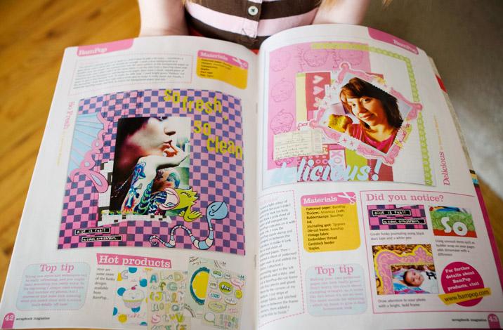 scrapbook magazine p.42-43