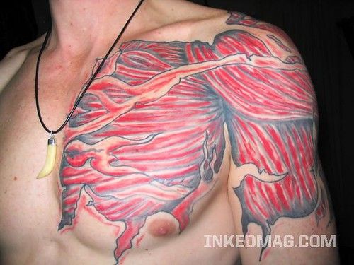 exposed muscle tattoo