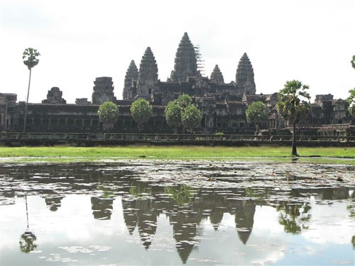 Angkor Wat reflected on the lake