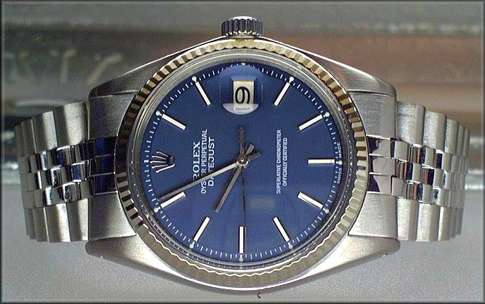 Rolex Datejust 1601 with slate blue dial