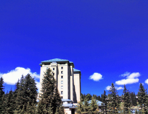 A Tower Of The Chateau Lake Louise