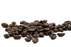 Gourmet Coffee Beans (daintee) Tags: food brown white coffee beans drink many group beverage gourmet whole whitebackground pile copyspace isolated roasted coffeebeans