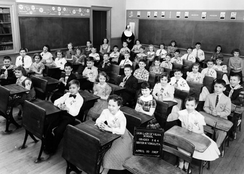 Our Lady of Vilna School, 3rd & 4th Grades, 1957