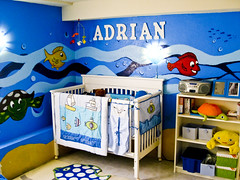 my son's nursery (hhdoan) Tags: ocean blue boy baby infant underwater nursery maritime newborn crib nautical aquatic babyboy babynursery boysnursery boynursery