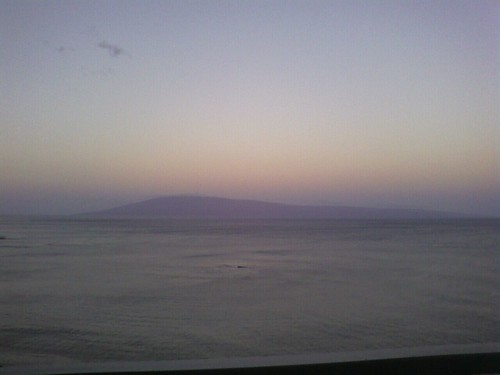View east from Kahana, of Lanai