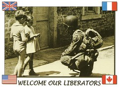 NORMANDY HISTORY 1944 (manchot6150) Tags: world 2 history children french soldier war flag postcard wwii landing american beaches normandy 1944