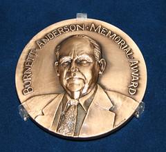 2008 Burnette Anderson Award Medal