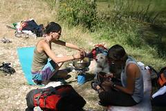 502 Marcha Ruta. Cocinando en la cascada de Perosa
