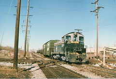 Southbound Belt Railway of Chicago switching local at Hawthorne Junction. Chicago / Cicero Illinois. March 1987.