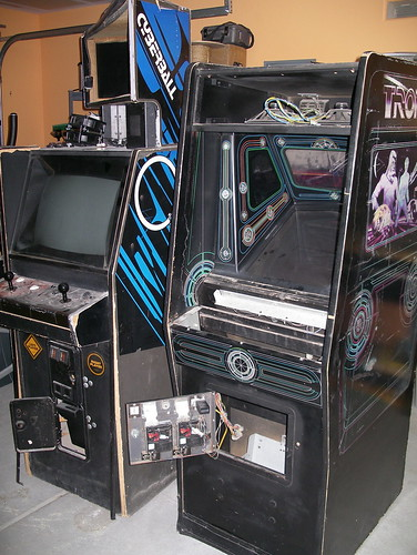 TRON and Cyberball cabinets
