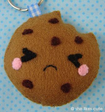 Shop update: sad cookie keychain
