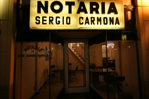 Notaria in Santiago, Chile.