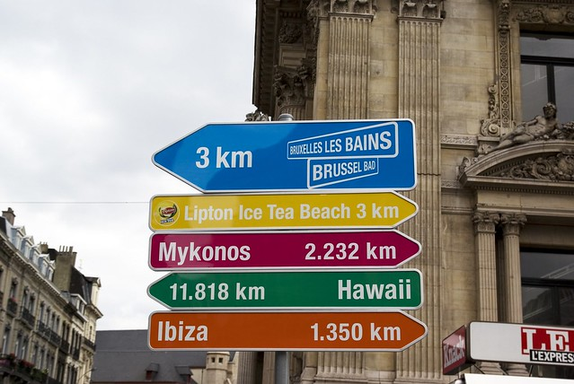 Brussels road signs