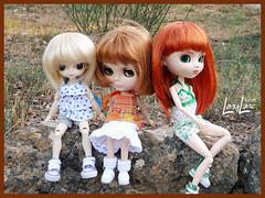Girly style trio