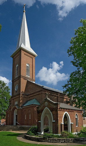 Saint John the Baptist Roman Catholic Church, in Villa Ridge (Gildehaus), Missouri, USA - exterior 2