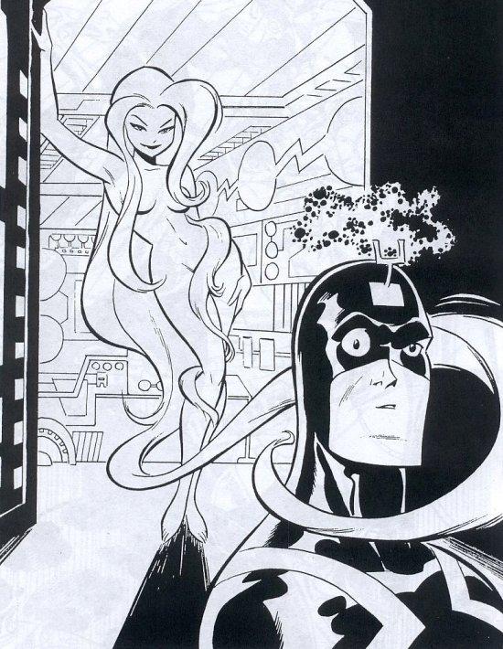 Medusa y Rayo Negro (Bruce Timm Sketchbook, 2008)