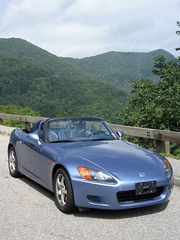 honda s2000 in the mountains