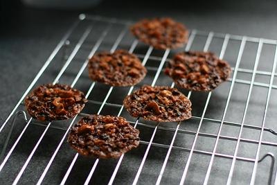 Cocoa Nib Hazelnut Florentines