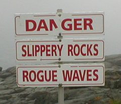 danger sign small