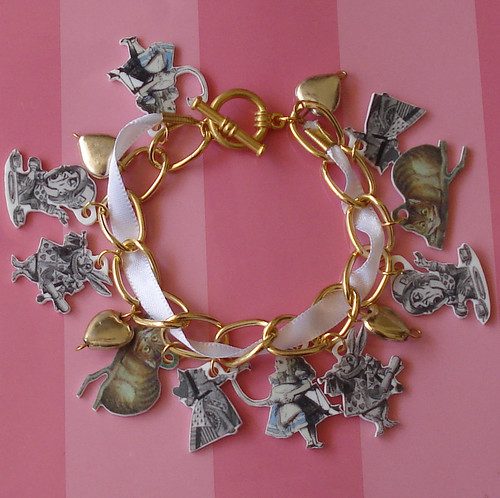 Alice in Wonderland Loaded Charm Bracelet