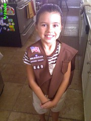 Emily is now a Brownie