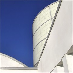 PB Library Blues~ (Dominique Guillochon) Tags: california usa beach beauty lines architecture unitedstates sandiego geometry library bluesky beachlife pb bleu pacificbeach soe modernarchitecture californiacoast aplusphoto superhearts architecturalgeometry pacificbeachlibrary cielbleuavecunbuildingblanc pacificbeachcaliforniapubliclibrary strikingarchitecturalgeometry