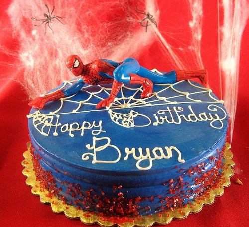 spiderman 3d cake. Birthday Cake Spiderman