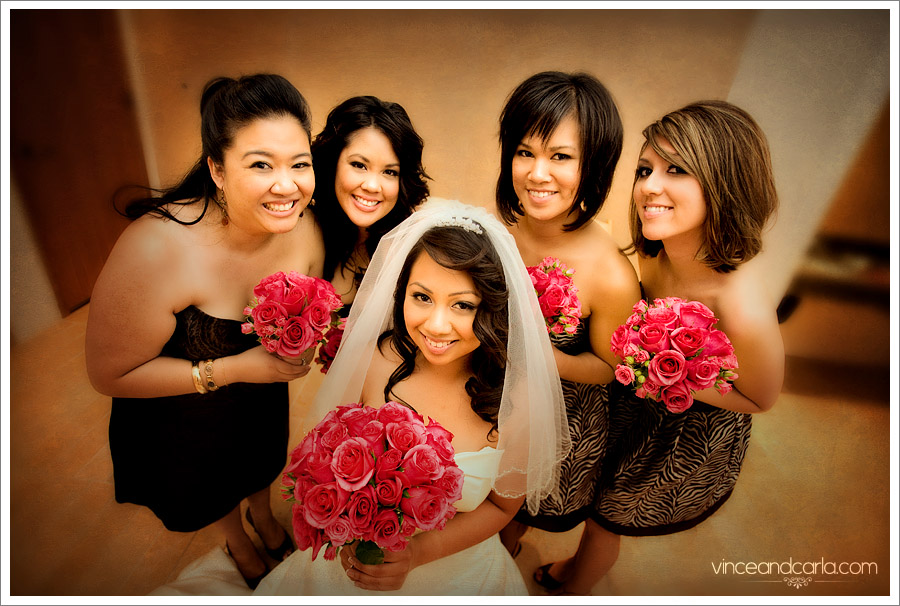 bridesmaids cathedral of angel bridesmaid los angeles wedding flowers bride downtown